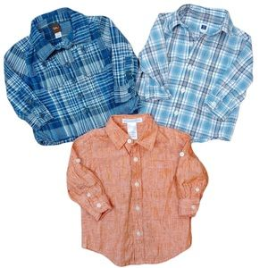 3 Infant Button Down Shirts Tea & Janie and Jack